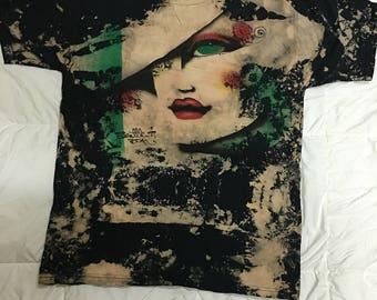 Vintage Mosquitohead /Acidwash Seattle Girls T-Shirt