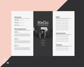 Creative Resume Template | Horizontal Landscape | Modern U0026 Professional  Resume | Simple Resume | Digital  Landscape Resume
