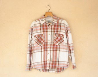 Vintage Teddy Smith Checked Long Sleeved Shirt - Size Medium