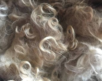 Raw red/fawn angora mohair