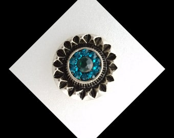 Snap Blue  for your Noosa or  Gingersnap  jewelry. 20 mm snap jewelry will fit other brands