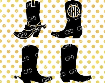 Boots SVG, Cowboy boots SVG, Southern SVG, Southern boots Svg, Boots Digital Cut File, Instant Download, Svg, Dxf, Jpg, Eps, Png