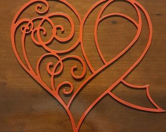 Breast Cancer Awareness/Survivor Ribbon/Heart Decorative Metal Decor