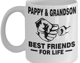 Pappy and Grandson Best Friends For Life Mug - Pappy and Grandson Mug - Pappy and Grandson Gift - Pappy and Grandson Coffee Mug