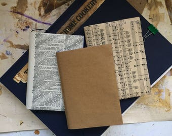Mixed Page Notebook (Kraft Cover) || Handmade A6 Book || Inspiring Notebook || Vintage Papers