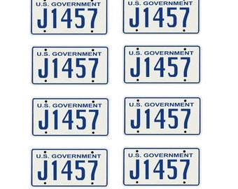 scale model Department of Justice  license tag plates FBI