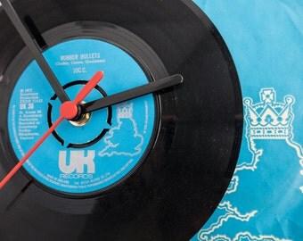 "10cc - 'Rubber Bullets' 7"" Record Clock"