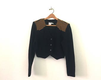 Nineties Faux Epaulet Crop Top