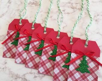 Christmas Tree Gift Tags - Set of 6