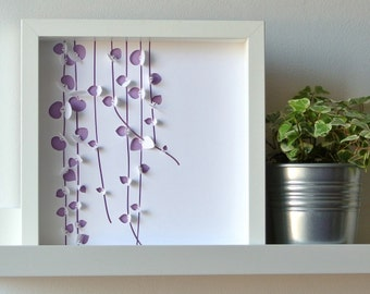 CEROPEGIA - Painting paper cut inspired succulent, perfect for a deco graphic, modern, embossed, personalized gift