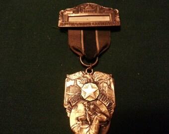 WW2 Era 22nd National Convention Boston,Massachusetts 1940 American Legion Medal w/ribbon