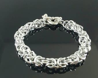 Handmade Chainmail Bracelet Byzantine