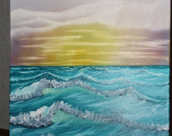 Evening Waves oil painting 18x24