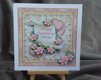 Anniversary card * Happy anniversary * Floral anniversary *