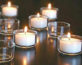 Coconut soy tea light candles set of 5