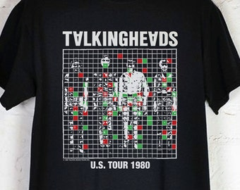 TALKING HEADS - U.S. Tour 1980 Vintage Reprint, Black T-Shirt