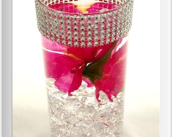 Centerpieces, Silver Glass Centerpiece, Wedding Reception, Formal Centerpiece, Customized Centerpiece, Floral Centerpiece, Candle Tea Light