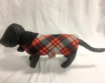 Red/Black Plaid 4 Dog Coat 1019