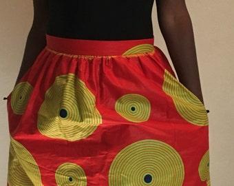 African Dashiki mini skirt
