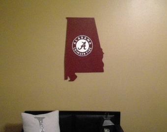 Alabama Football Crimson Tide Wood Sign