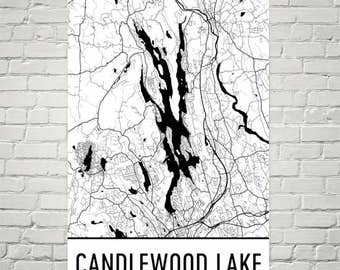 Candlewood Lake Connecticut, Candlewood Lake CT, Candlewood Lake Map, CT Map, Lake Map, Candlewood Lake Art, Connecticut Art, CT Lake Map