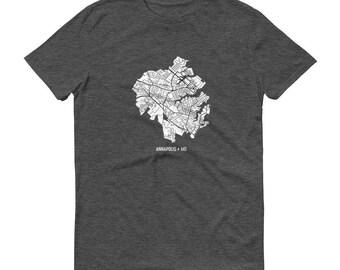 Annapolis Shirt, Navy, Annapolis MD, Annapolis TShirt, Annapolis Gift, Annapolis Map, Annapolis Tee, Maryland Shirt, Maryland Map, Annapolis