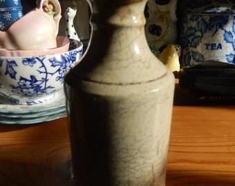 Victorian Chemist Bottle, Stoneware Bottle, Pharmacy Bottle, Druggist Bottle, Statement Piece, Old Bottle,Collectable Bottle, Ink Bottle