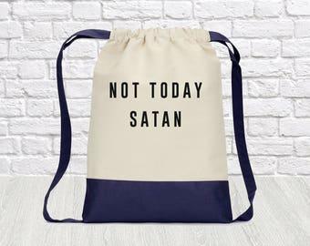 Not today Satan bianca del rio bag mini backpack drawstring bag, canvas backpack