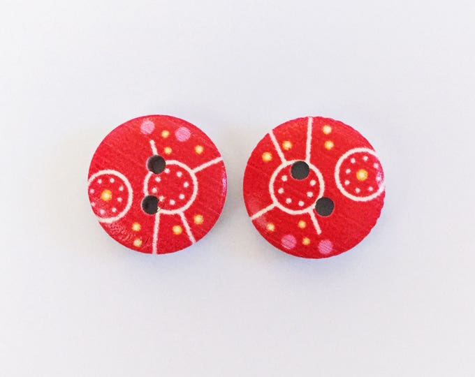 The 'Bree' Button Earring Studs