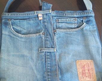 Tough bag of vintage Levi's jeans