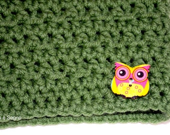 Neck warmer OWL-owl Crochet cowl