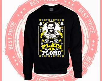 Pablo Escobar sweater-Plata o Plomo-unisex Ugly christmas sweater - Narcos- crewneck Plata O Plomo Pablo Escobar-ugly sweater party-Escobar