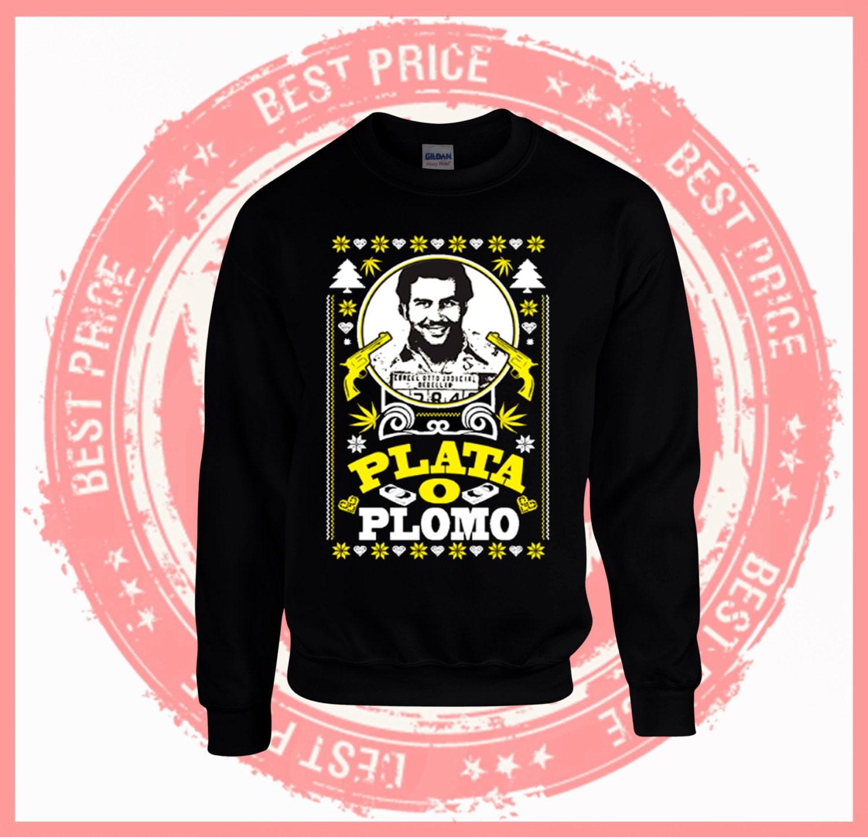 Pablo Escobar sweater-Plata o Plomo-unisex Ugly christmas