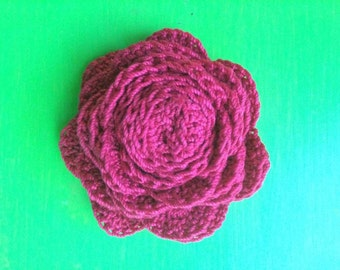Crochet Red Rose