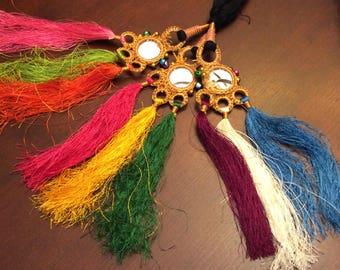 Mirror tassels Indian Pakistani paranda hair braids