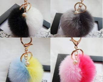 SALE Pom Pom Fur Ball Keychains