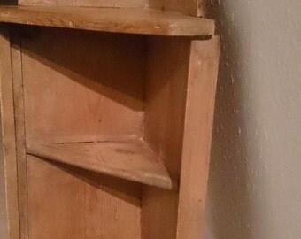 Corner Shelf , Wooden Vintage SOLD