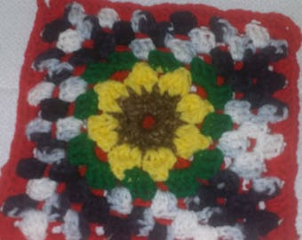 Crochet Sun Flower Potholder