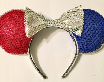4th of July/Red, White, and Blue Mickey Ears