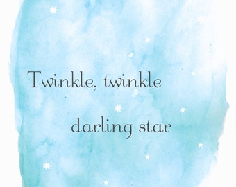 Twinkle, twinkle darling star