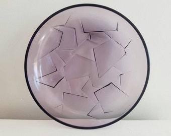 Purple PLATTER - Geometric - Mod Design - Plate - Serving Dish