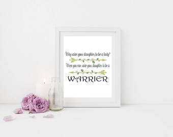 Daughter Print, Daughter Art, Daughter Gift, Daughter Present, Quote Prints, Motivational Print, Motivational Art