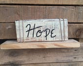 Hope Sign // Rustic Decor // Handcrafted Pallet Sign // Gift