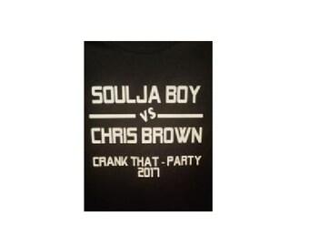 Soulja Boy vs Chris Brown Crank That Party - Novelty Custom Made NovelTee Shirts by vaporpodd.com