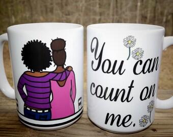 A Friend Indeed, Colorful, Sentimental  Coffee Mug