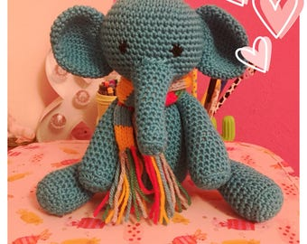 Little Amigurumi Elephant made to order in choice of colour