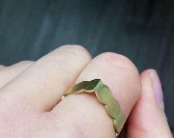 Pearl brass ring