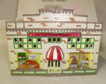 Department 56,snow village,ceramic collectible,the village market
