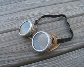 Steampunk Goggles With Key Necklase - Burning Man festival- Steampunk Glasses-Welding Goggles