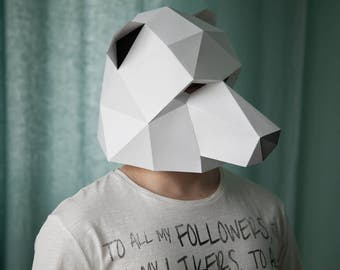 Polar Bear Low Poly Mask Download PDF